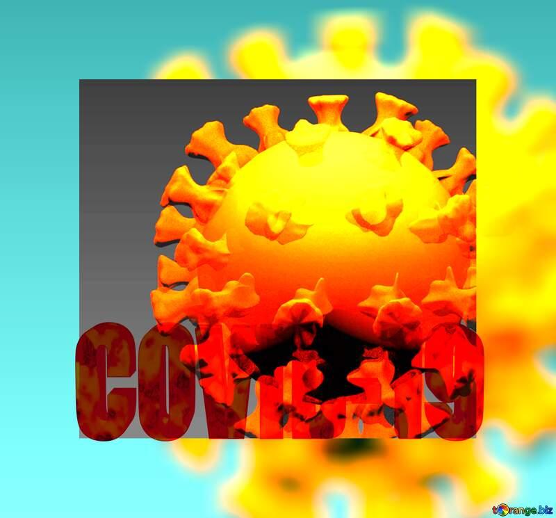 Covid-19 Coronavirus art 3D render frame background №54735