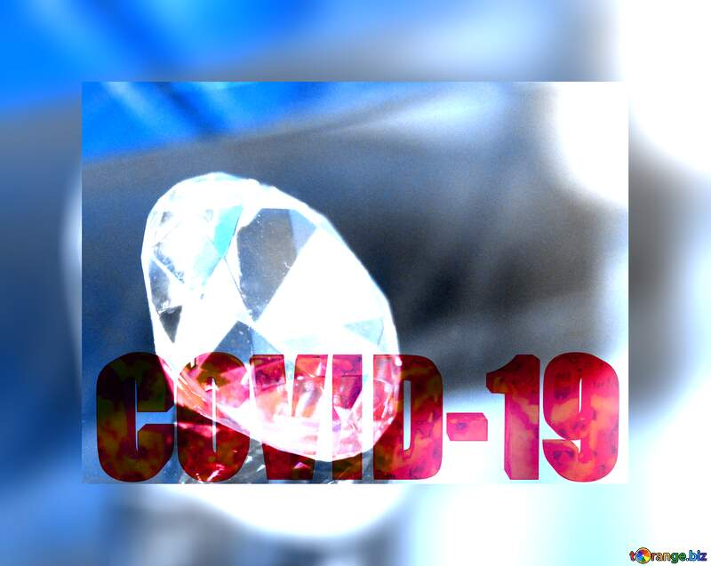 diamond polygonal techno color background 3d text Corona virus Covid-19 Coronavirus disease 2019 2020 №52795