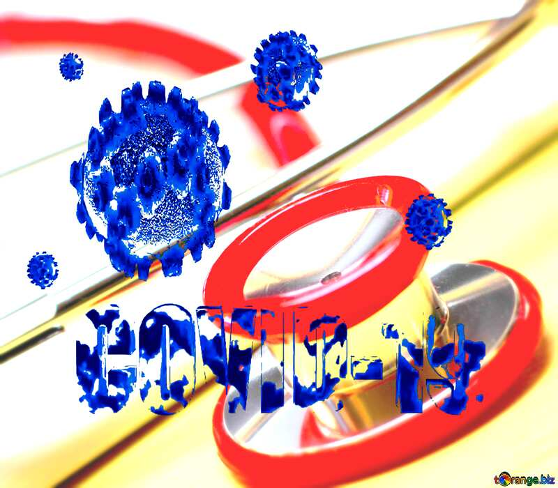 Doctor Covid-19 Coronavirus background blue №19742
