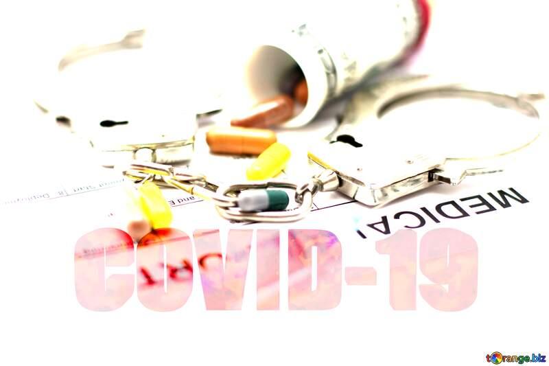Doctor fraudster 3d text Corona virus Covid-19 Coronavirus disease 2019 2020 №19916