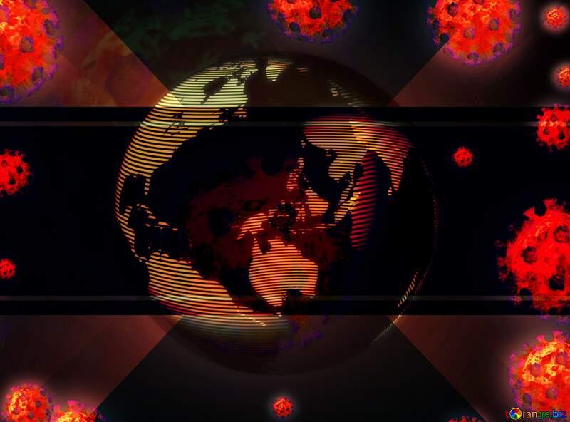 Earth world dander Corona virus Coronavirus dark background №54739
