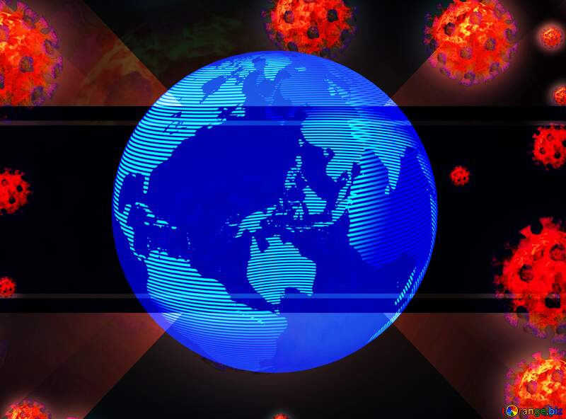Earth world planet Corona virus Coronavirus dark background №54739