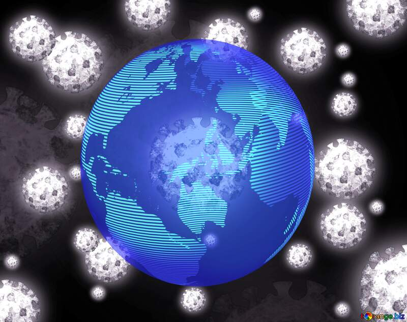 Earth world planet pandemic attack Corona virus Coronavirus dark background №54739