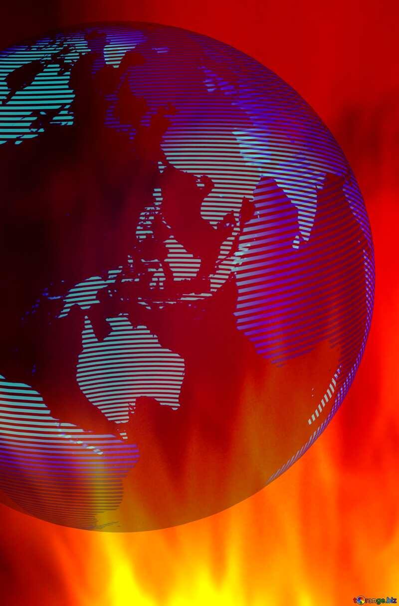 global world earth fire №54516