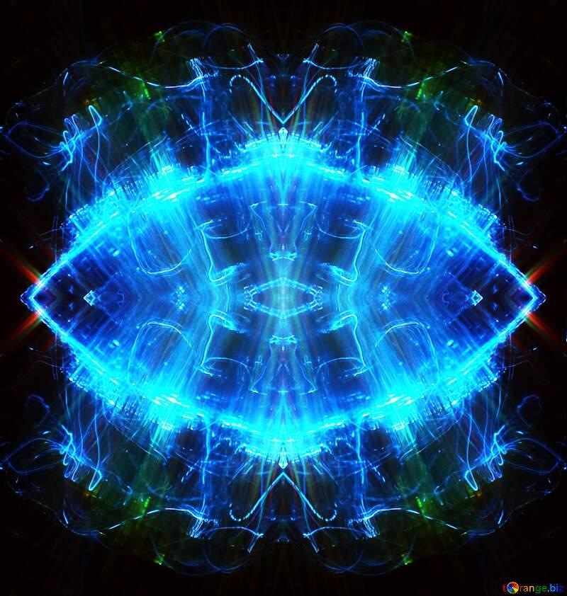 Lights blue fractal №25869