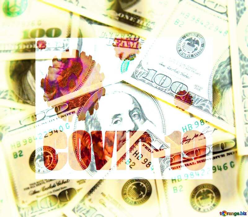 Dollars covid 19 corona virus background №1507