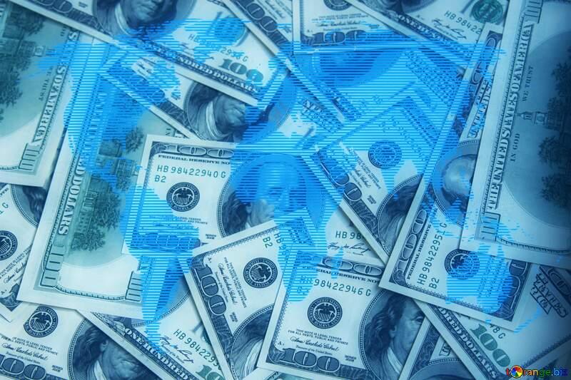 Dollars World map background concept global money №1507