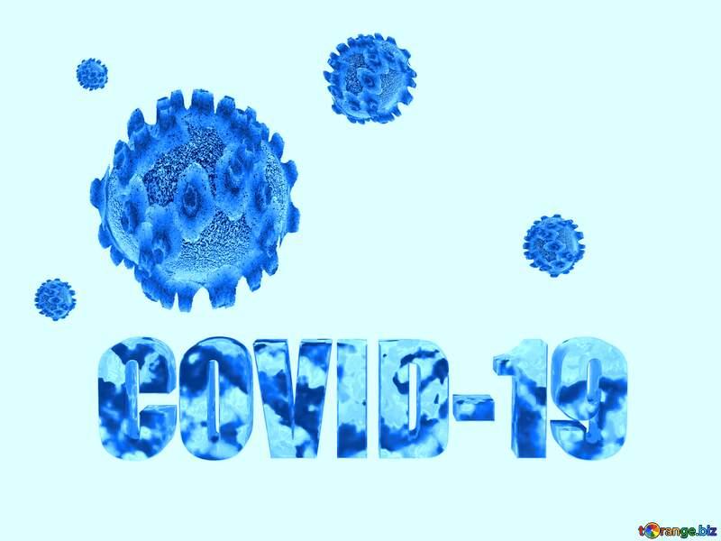 Covid-19 Coronavirus background blue №54733