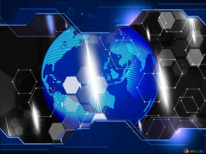 Hi tech earth planet symbol №54515