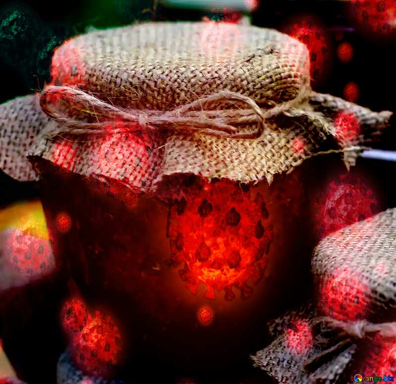 Homemade organic honey virus background №48409