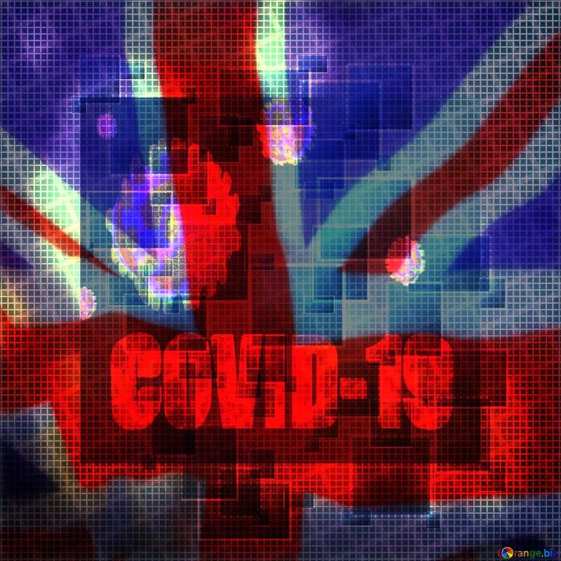 Medicine Technology United Kingdom flag Covid-19 Coronavirus dark background art №49678