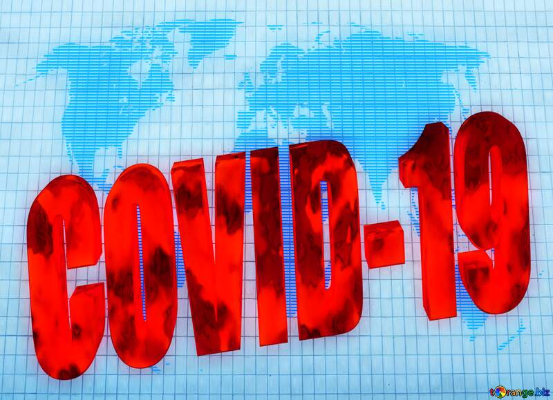 old facade tiles texture World map concept global network line Covid-19 3d red text №50495