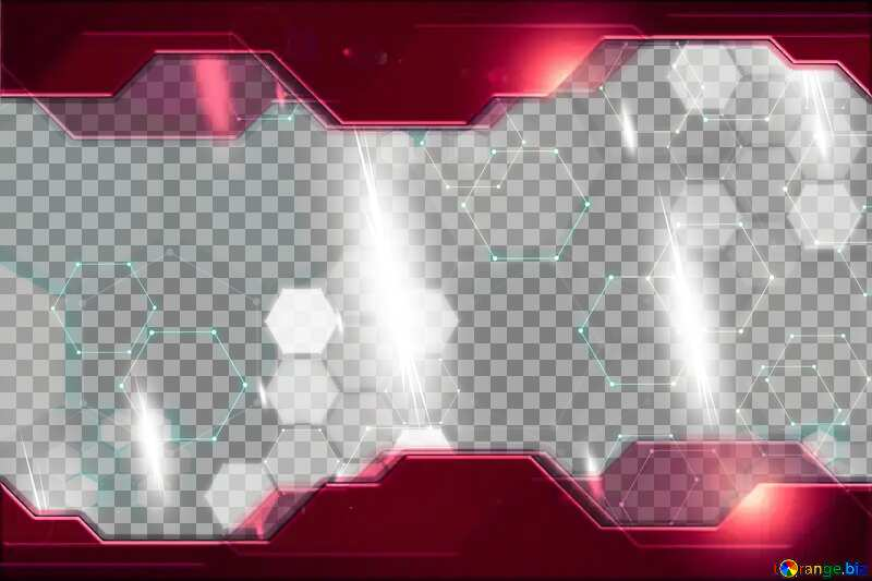 Red Information Technology business concept Hi-tech Frame Covid 19 background №54484