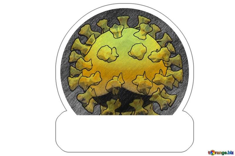 Sticker Coronavirus  Virus Covid-19 №54737
