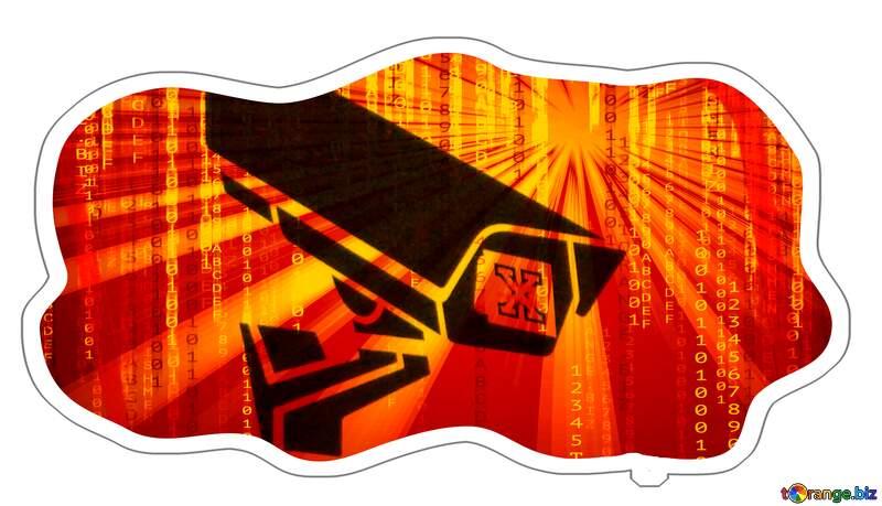 Sticker Warning video surveillance №48501