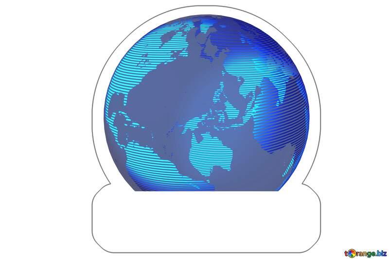 Sticker world earth №54514