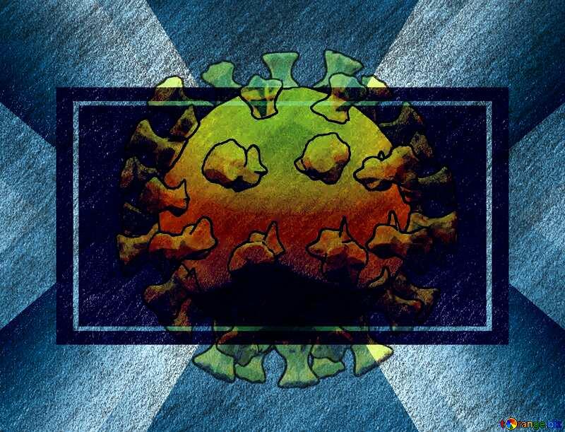 Template Covid-19 Coronavirus art 3D render №54737