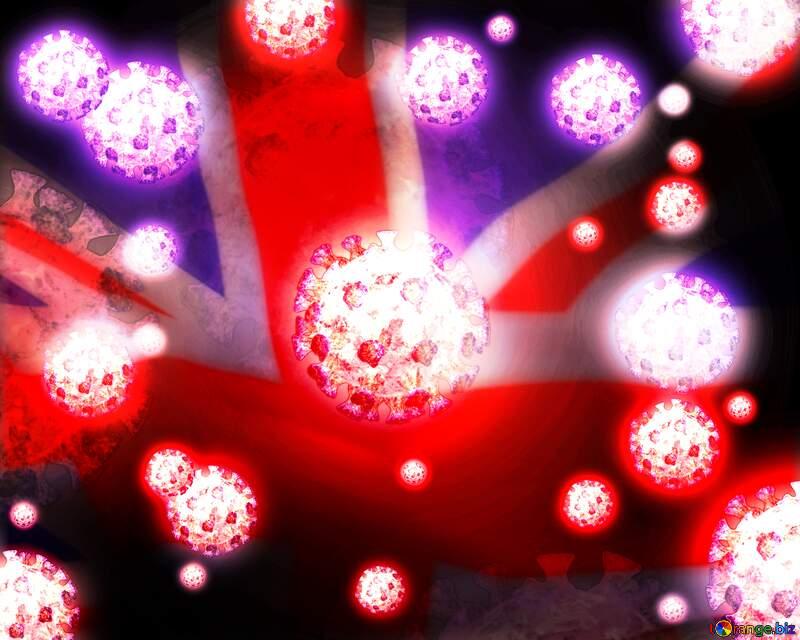 United Kingdom Corona virus Coronavirus dark background №54739
