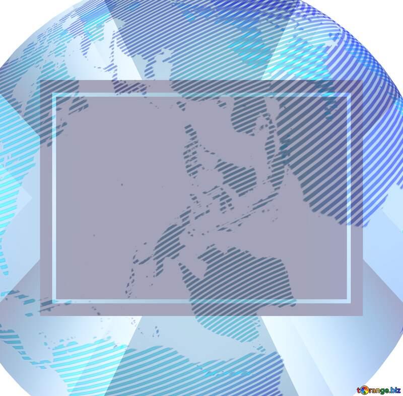 Modern global world earth blur frame concept №54516