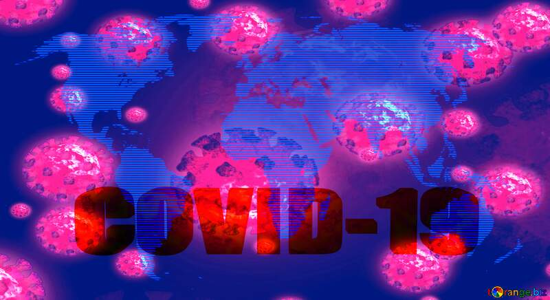 World map concept global network line Digital technology binary code 3d text Corona virus Covid-19 Coronavirus disease 2019 2020 Covid 19 background №54504