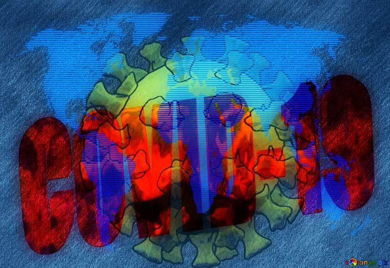 World danger Covid-19 Coronavirus art 3D render №54737