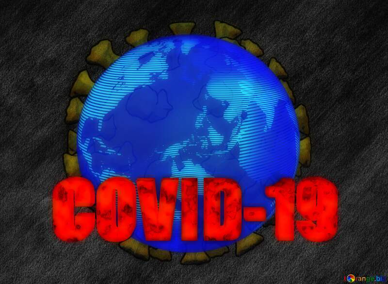 World earth dark background Covid-19 Coronavirus art 3D render №54737