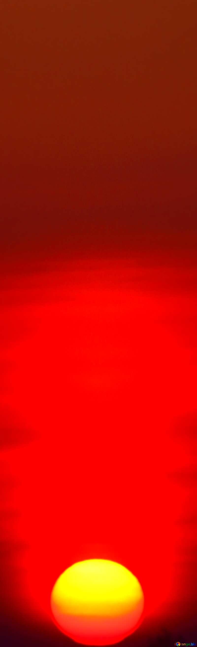 Red Sunset vertical banner Background. №1334