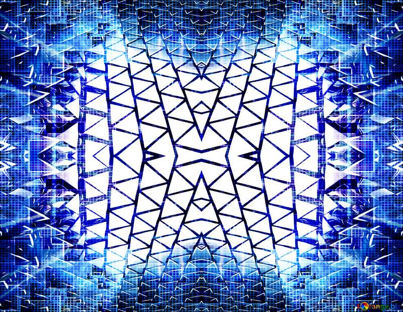 3D abstract blue metal  pattern №54502