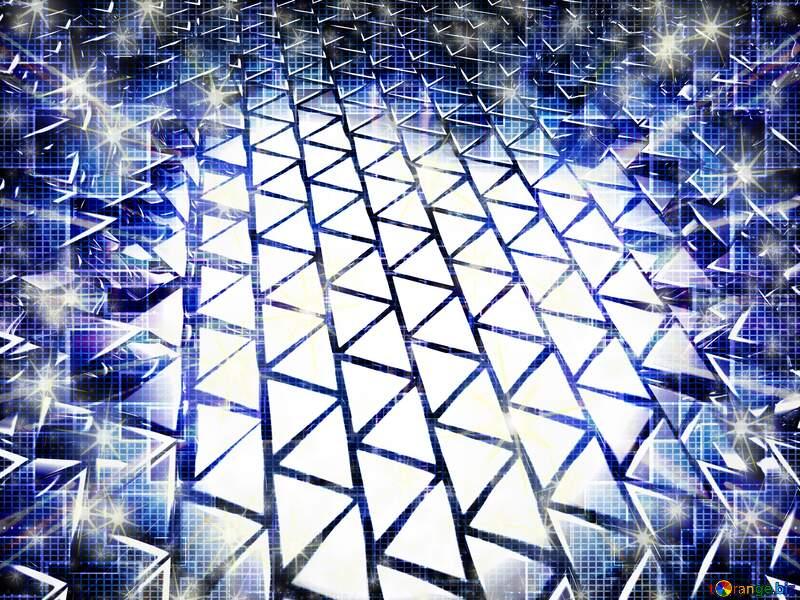 3D geometric technology blue  background №54502