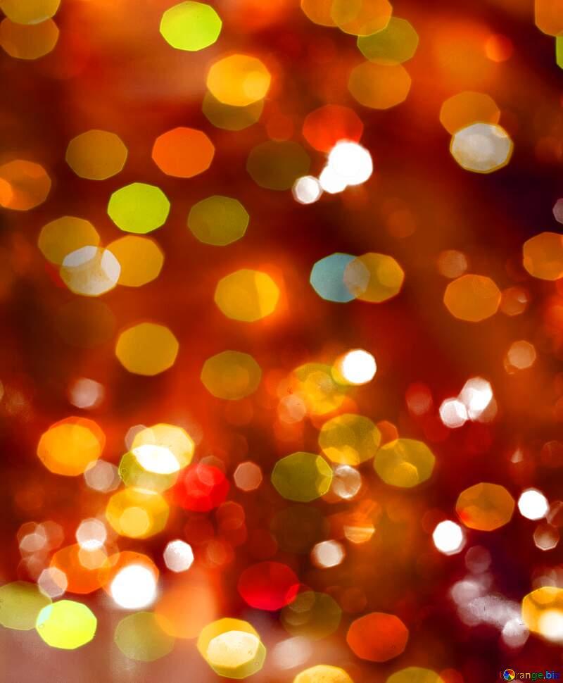 Christmas bokeh hearts  background №15110