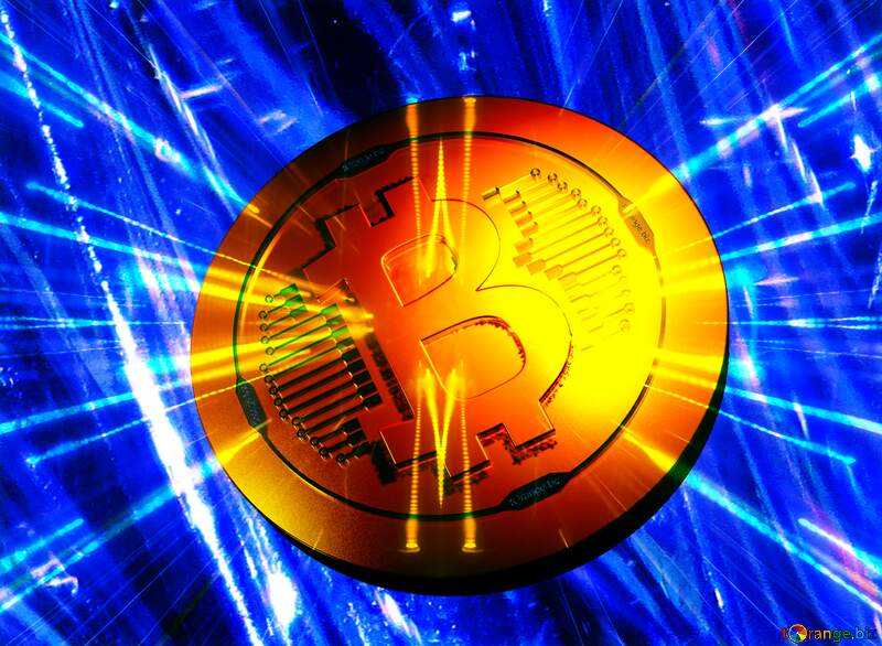 coin, whenever Bitcoin gold light Techno neon blue №18044