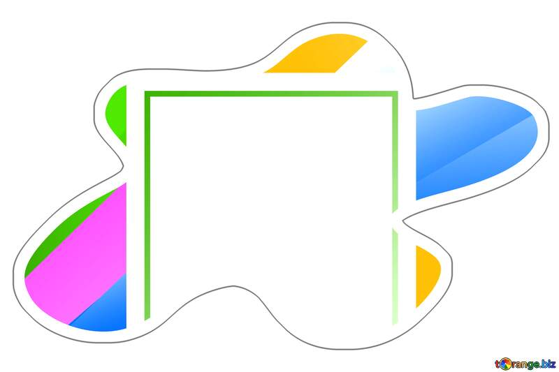 Colorful frame Sticker template №49675
