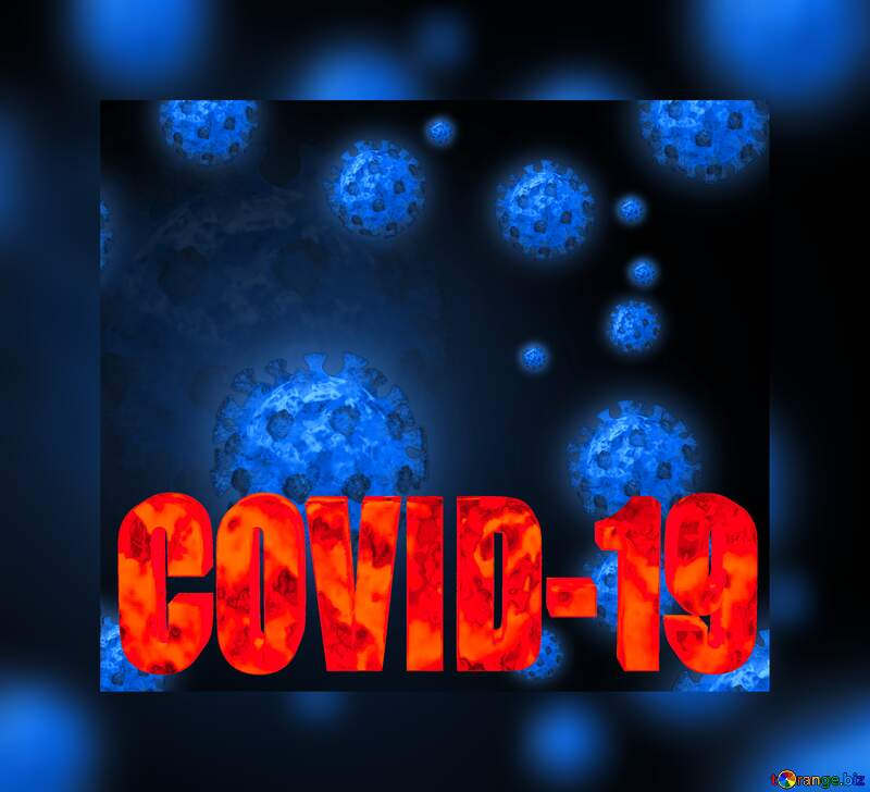 Covid-19 blue  background №54739