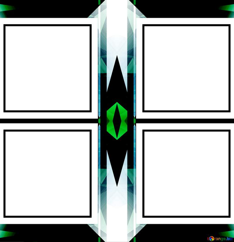 dark  infographic template frame Polygon №49675
