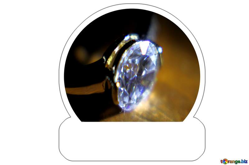 Gold diamond ring Sticker №18587