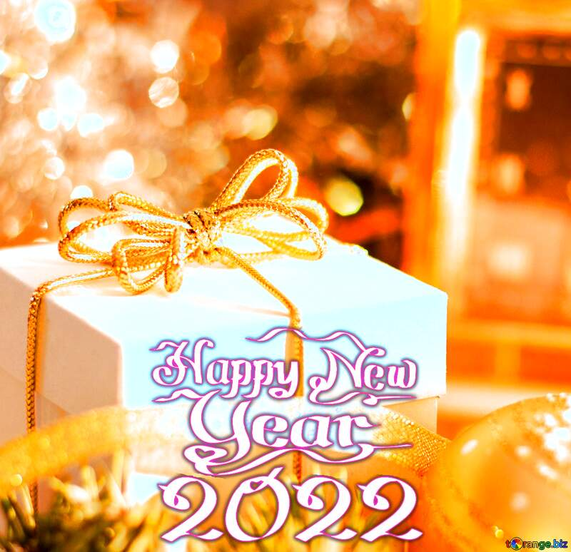 Greeting card with new year Happy New Year 2022 №15364