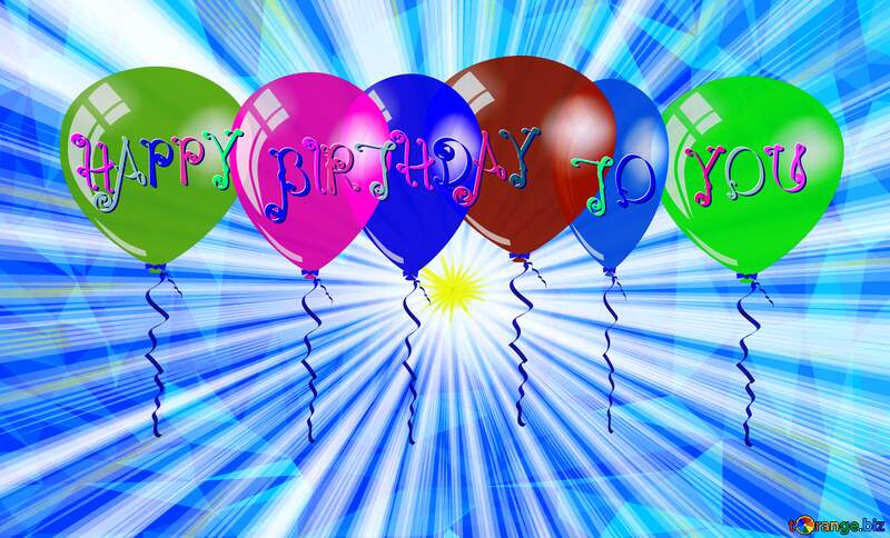 Happy Birthday Polygon sunlight Rays background №49660