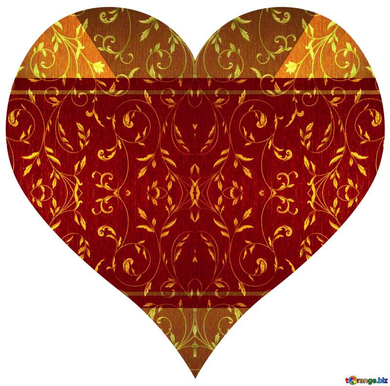 Heart frame rich  love shaped background №36317