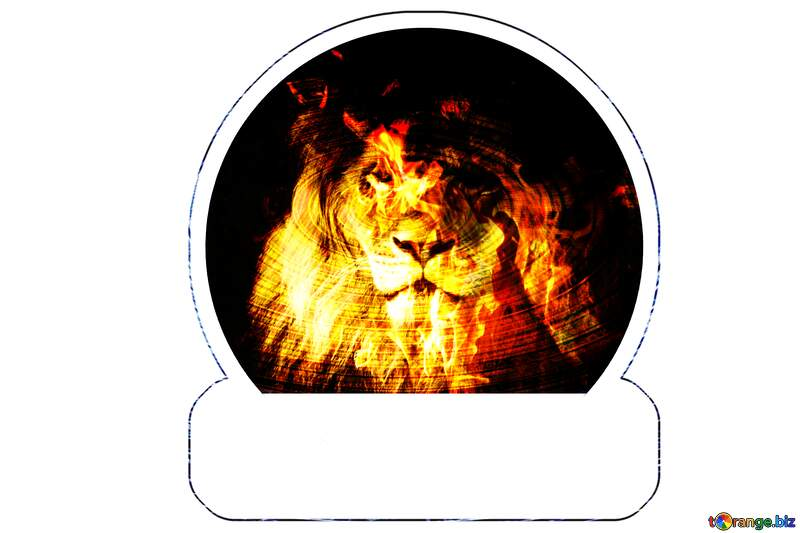 A lion Fire Sticker №44974