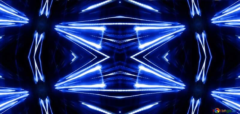 Night Lights blue pattern №638
