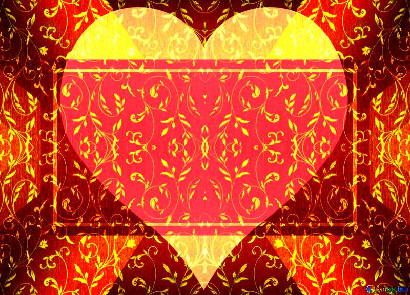 Rich  Heart shaped background №36317