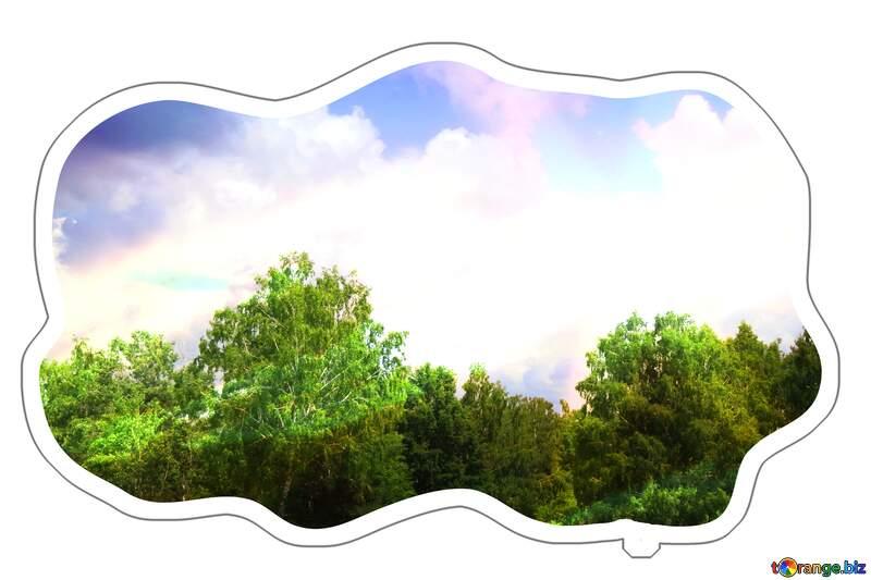 Sticker cloud template Sunset nature №26725