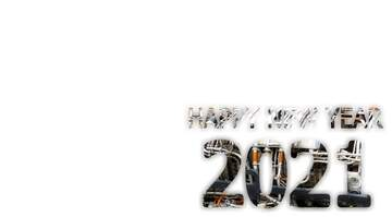 Happy New Year 2021 Technology metals pipe text