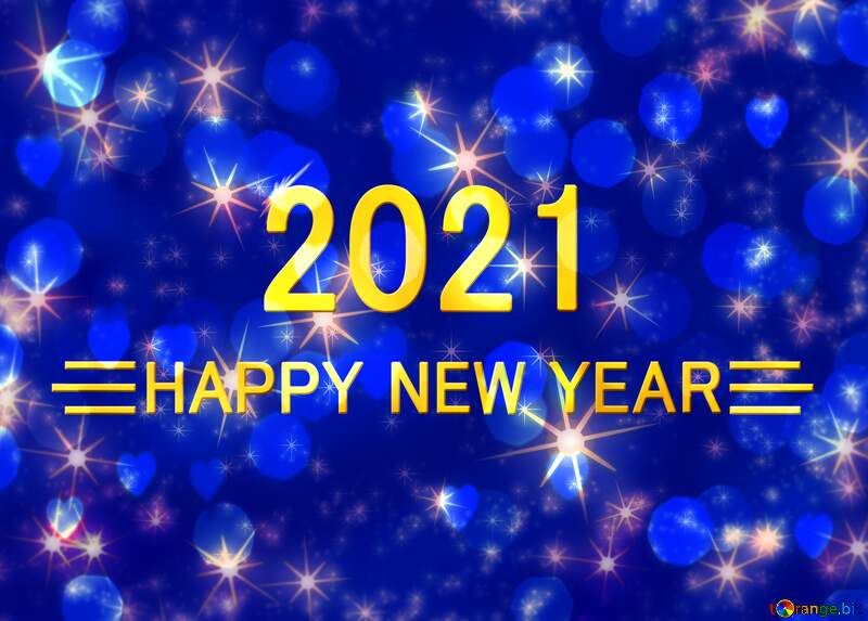 2021 golden New Year  winter  holiday background №54496