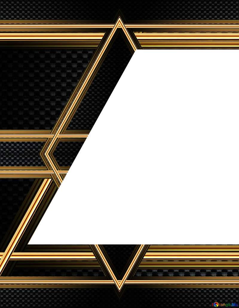 Carbon gold lines frame top left botom №54467