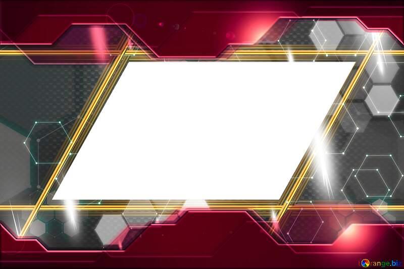 Carbon gold lines frame  transparent №54467