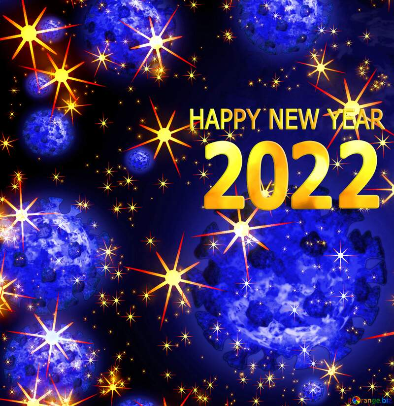 Covid 19 Happy New Year 2022 background №54495