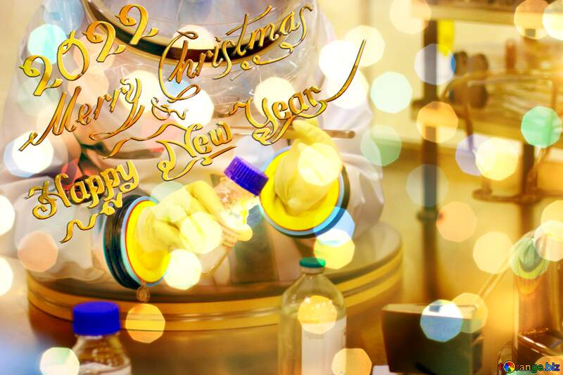 Covid19  Christmas background Happy New Year 2021 and Merry Christmas wishes №54575