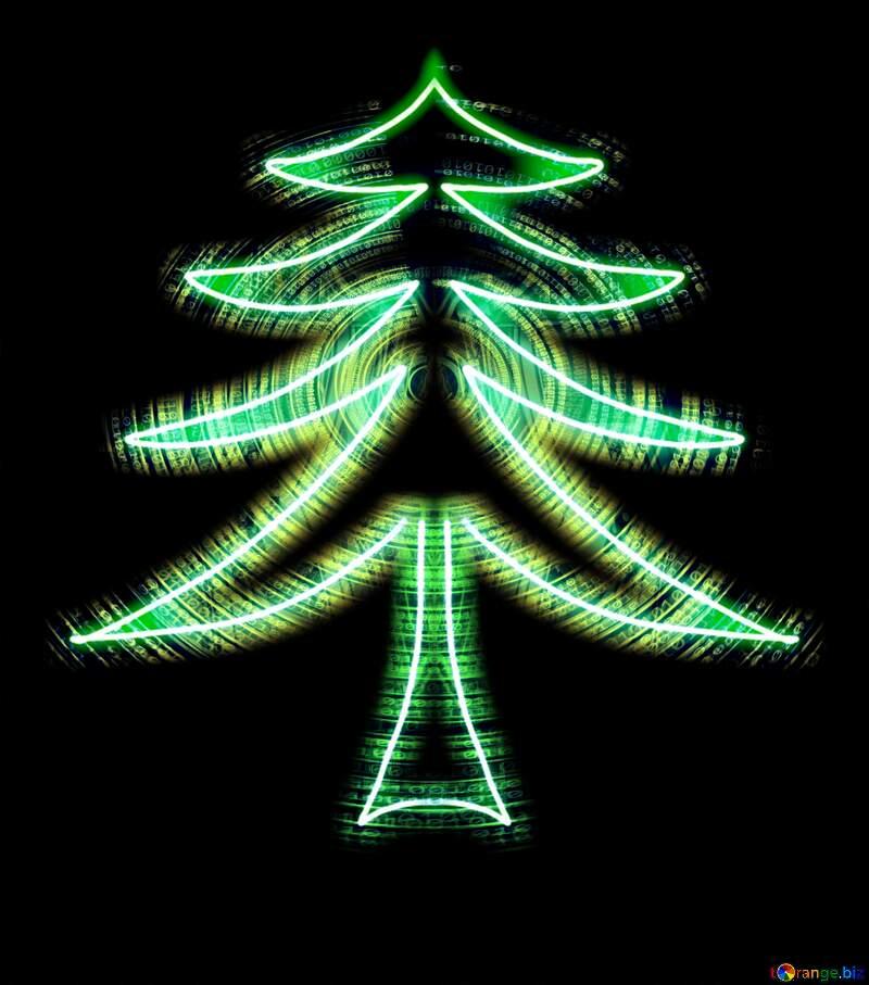 Futuristic Christmas tree №40649
