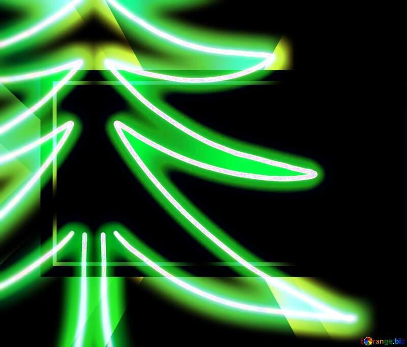 Futuristic Christmas tree template №40649